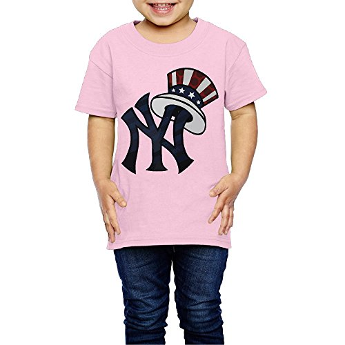 Price comparison product image New York Yankee Wear Us Cap Youth Tee Shirt 5-6 Toddler Pink For 2-6 Years Old