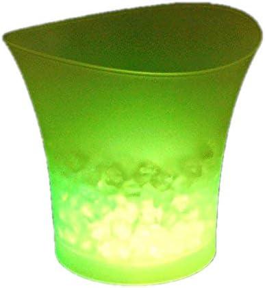 codomoxo Seau /à Glace color/é LED Bar bi/ère Seau /à Glace en Plastique vin Rouge Champagne Transparent Luminescent Seau /à Glace Rose