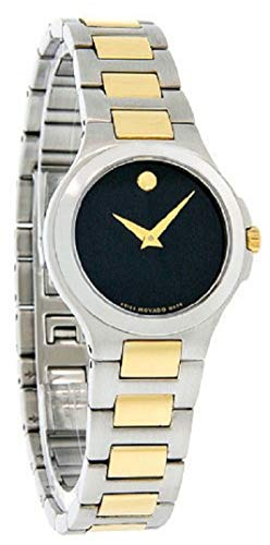 - Movado Women's 606182 Museum Two-Tone Black Stainless Steel Watch