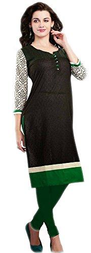 Jayayamala usure coton Mesdames robe brodée tunique noire en coton femmes Boho Top Plage (38)