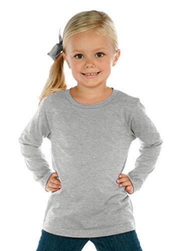 - Kavio Toddlers Crew Neck Long Sleeve, Heather Gray, 2T