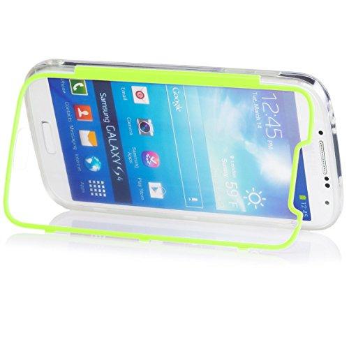 Samsung Galaxy S4 | iCues despejan el caso de TPU púrpura | luz extra lámina transparente muy fina protector exterior gruesa dura de la caja a prueba de golpes 360 grados Pantalla de cuerpo completo r Claro Verde