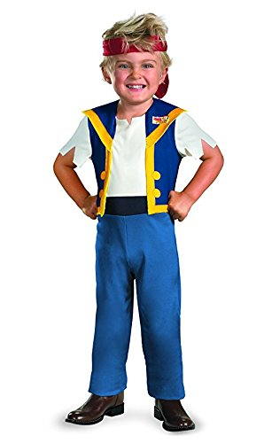 Disney Jake And The Neverland Pirates Jake Classic Costume, Medium (Jake Toddler Costume)