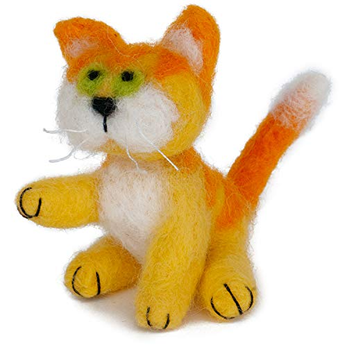 Dimensions Yellow Cat Felt Animals Needle Felting Kit, 3'' x 2.5'' ()