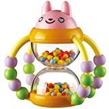 Jian E -// Toys - Hourglass Rattle, Newborn Baby Rattle Toy - Flexible Exercise Fingers - Baby Toys for Men and Women /-/