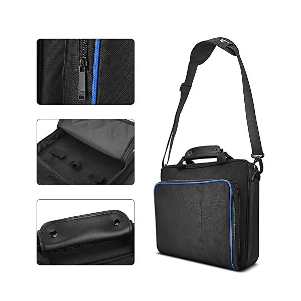 1Pcs PS4 Pro Carrying Case, VBESTLIFE Gaming Console Travel Storage Hand Shoulder Bag Playstation 4 Pro Protective Bag… 4