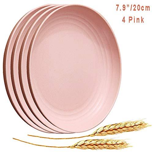 Platos de popote de trigo aptos para microondas - Paquete de 4 ...