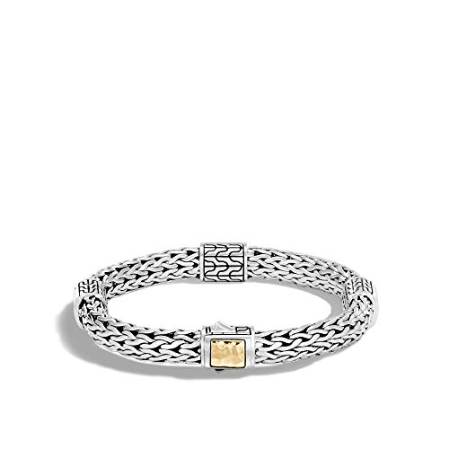 Four Station Bracelet - John Hardy Women's Classic Chain 7.5mm Hammered Gold & Silver Medium Four-Station Bracelet, Size M BG