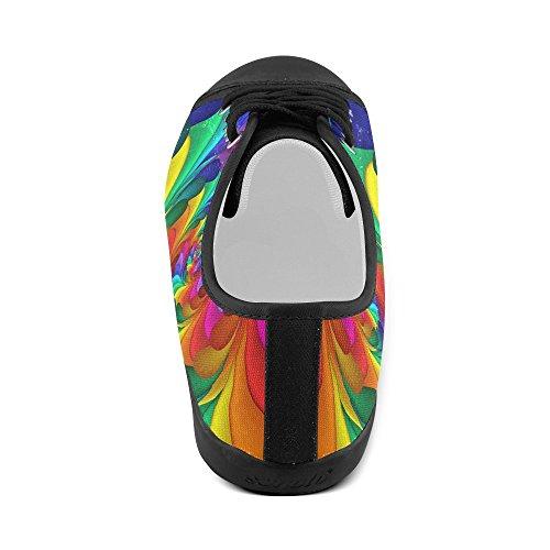 Scarpe Di Tela A Spirale Arcobaleno Psichedelico Artsadd Per Donna (modello016) Multi Color6