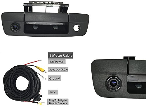 1500 Cable (Dodge Ram 1500 2500 3500 09-17 Tailgate Handle With Back-Up Camera and 8M Cable)