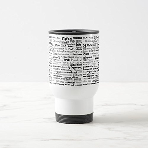 Feddiy Tumbler-Stainless Steel Travel Mug,14 oz Funny Coffee Mug-Paranormal White 14 oz by Feddiy