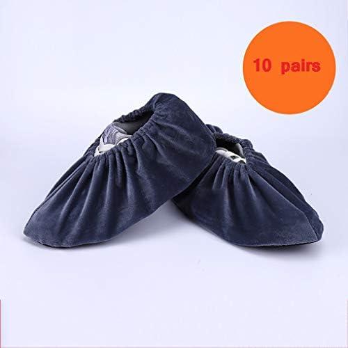 DUWX 家庭用の洗えるフリースカバー、屋内用の厚くて再利用可能なフットカバー (Color : A5, Size : 10 pairs)