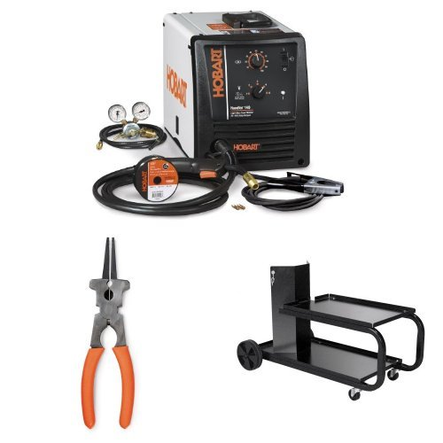 Hobart 500559 Handler 140 MIG Welder 115V with MIG Multi-Function Welding Pliers and Small Running Gear/Cylinder Rack by Hobart