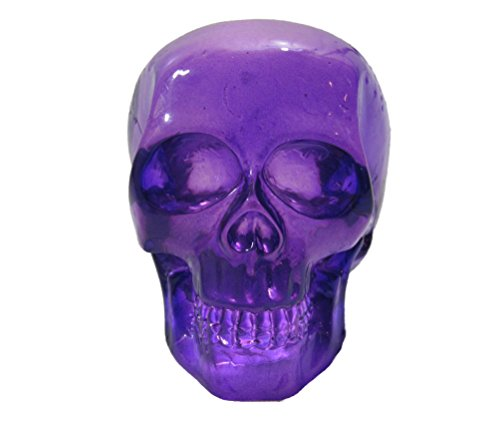 Clear Purple Skull Head Shift Knob / Decor>