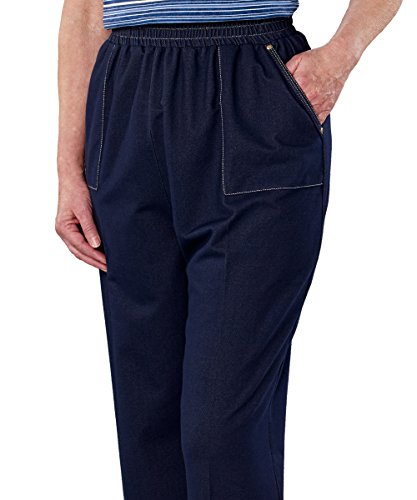 Adaptive Clothing Disabled - Silvert's Casual Adaptive Wheelchair Jean Pants for Women - Disabled - Denim XL