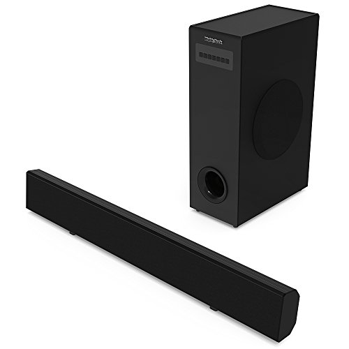 The Box Surround Speakers (Soundbar with Subwoofer Mighty Rock Sound Bar TV Soundbar Wired and Wireless Bluetooth Surround Stereo Sound Audio Speakers for TV(36-inch 2.1 Channel 72 Watt Sound Bars for TV with Subwoofer))