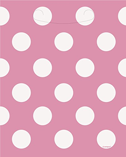 [Hot Pink Polka Dot Favor Bags, 8ct] (White Theme Party Costumes Ideas)