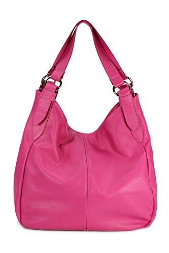 Belli - Bolso de tela para mujer Multicolor multicolor 36x30x14 cm (B x H x T) Rosa