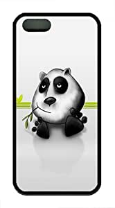 Cute Panda TPU Silicone Case Cover for iPhone 5/5S Black by runtopwell