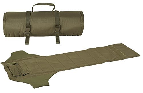 Sniper Shooting Mat - Ultimate Arms Gear Tan Deluxe Roll Up Shooter's Shooting Sniper Hunting Protective Padded Mat with Ammo Shell Cartridge Bullet Holder & Pocket Pouches