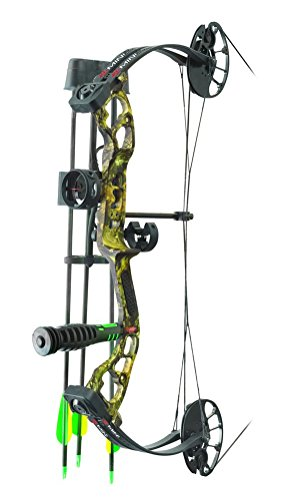 (PSE Archery, Mini Burner Compound Bow, Mossy Oak Country Camo, Right Hand, 40#)