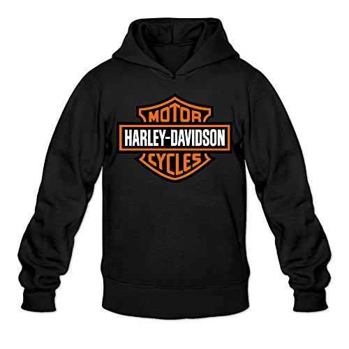 Harley Davidson Logo Boy's Black Sportswear Hooded Sweatshirt