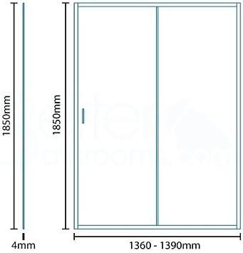 Mampara de ducha 1400 x 700 cristal 4 mm: Amazon.es: Bricolaje y herramientas