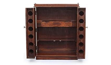 Ringabell Brewski Solid Wood Bar Cabinet (Honey Finish)