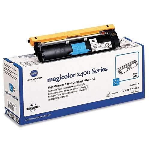 Konica High Capacity Cyan Toner Cartridge, 4500 Yield (1710587-007) 007 Cyan Toner Cartridge