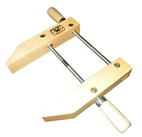 Dubuque Clamp Works Made in USA Wood Hand Screw Clamp 12 inch Hard Maple jaw by Dubuque Clamp Works