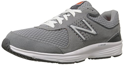 New Balance Men's MW411v2 Walking Shoe, Grey, 11 4E US