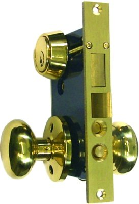 Tuff Stuff 5122AR Heavy Duty Mortise Lockset Ornamental Iron Gate Door Double Cylinder 2-1/2
