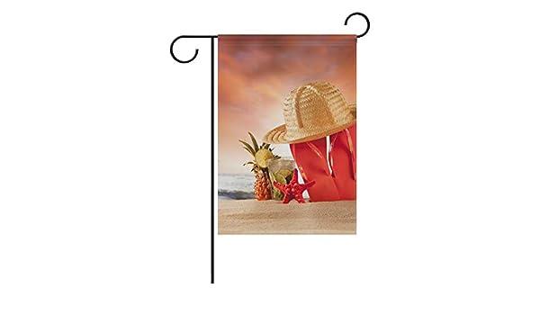 NaiiaN Bandera de jardín Doble Cara con diseño de Concha de mar de ...