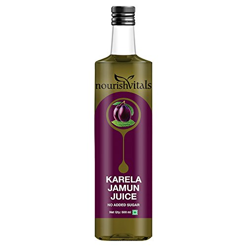 Nourish Vitals Karela Jamun Juice, 500ml – No Added Sugar