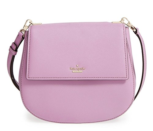 kate spade new york Cameron Street Byrdie Saddle Crossbody, Lilac Petal