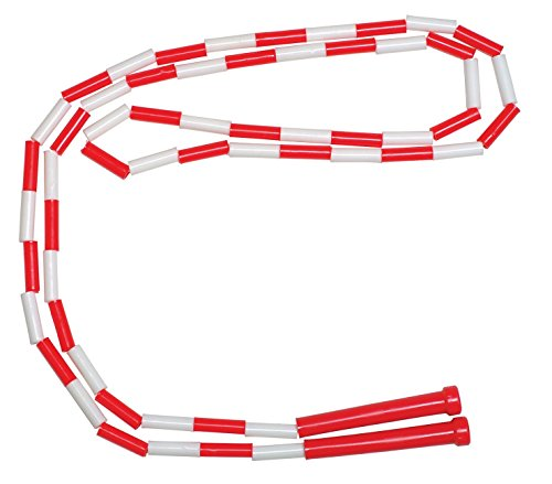 School Smart Segmented Nylon Jump Ropes with Handles - 8 feet - Yellow