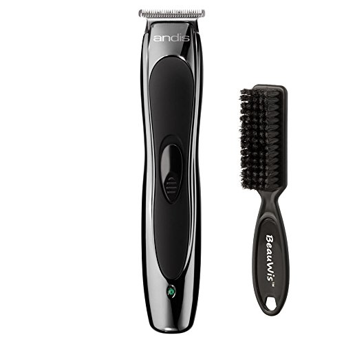 Andis Professional Slimline Ion Cord/Cordless T-Blade Trimmer With a Bonus BeauWis Blade Brush