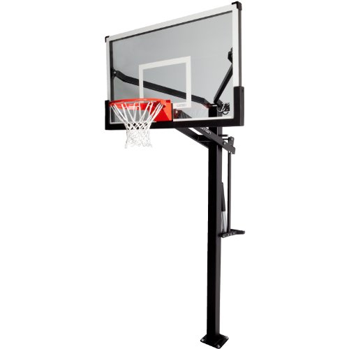 Lifetime 90179 Height Adjustable Mammoth In Ground Basketball System, 54 Inch Backboard (Height Of Professional Basketball Hoop)