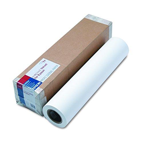 Epson SP91203 Somerset Velvet Paper Roll, 255 g, 24'' x 50 ft, White by Epson