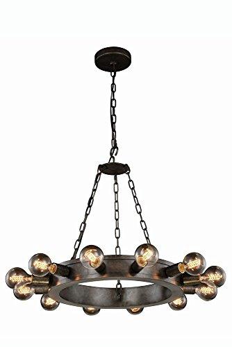Elegant Lighting 1500D25AI Winston Collection Pendant Lamp D25