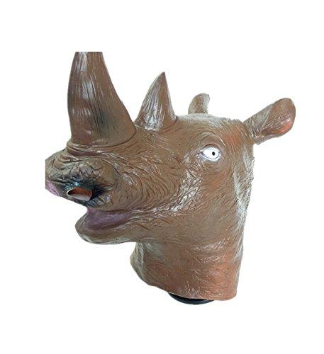 micrkrowen Halloween Party Mask Rhino Head Cover Props Kamen
