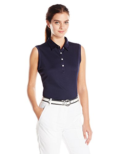 Cutter & Buck Women's Moisture Wicking, UPF 50+, Sleeveless Clare Polo Shirt, Liberty Navy, L