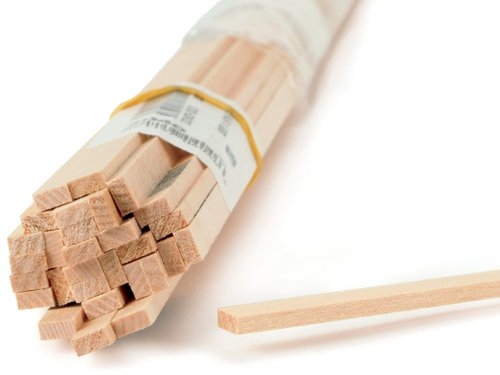 Midwest Products 4046 Basswood 1/8 x 1/4 x 24 inches Dowel Rod, 1/8