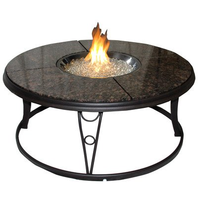 Cheap 48in Chat Firepit/Beverage Cooler Granite