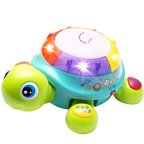 Musical Turtle Toy, English & Spanish Learning, Electronic Toys w/ Lights & Sounds, Early Educational Development Gift, 6, 7, 8, 9, 10, 11, 12 Months & Up, Baby, Infants, Toddlers, Boys, Girls & Kids