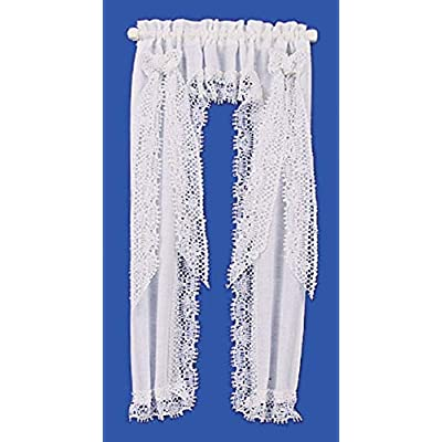 Melody Jane Dollhouse Victorian Princess White Curtains Miniature 1:12 Window Accessory: Toys & Games