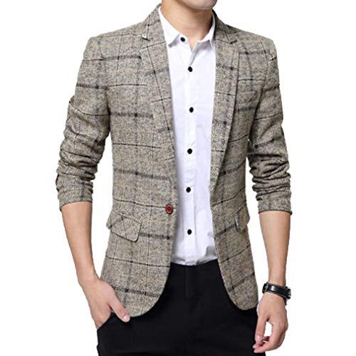 Rétro L Couleurs Veste Kaki Homme Affaires Casual Manches Treillis Jacket Blouson Vestons Un De Blazer Slim 3 Fit Costume Longues Bouton xxxl zdwdHq