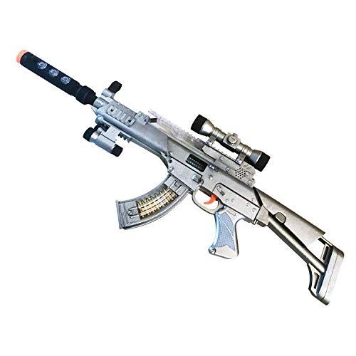 Machine Guns Assault (LilPals Special 30 Inch Rapid Flash Machine Gun - Rifle Features Dazzling Electric Light, Amazing Electronic Sound & Unique Action)