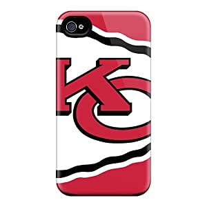 Jthicks Premium Protective Hard Case For Iphone 4/4s- Nice Design - Kansas City Chiefs