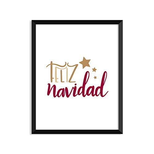 (Serif Design Studios Feliz Navidad - Unframed Art Print Or Greeting)